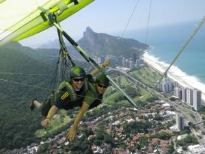 hangliding in rio tandem flight